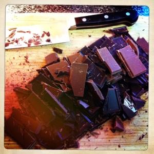 Chopping Chocolate...I'm chopping choc...